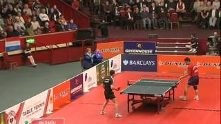 Repeat youtube video Table Tennis - Attack (Kalinikos KREANGA) vs Defense (Chen WEIXING) XV ! (Dunlop Masters 2008)