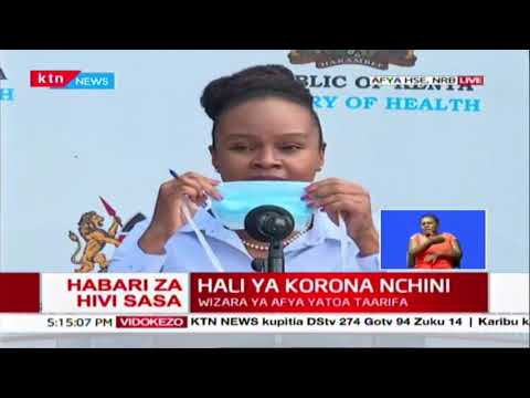 CORRECT USE OF FACE MASKS: Health CAS Dr. Mwangangi explains how face masks should be worn