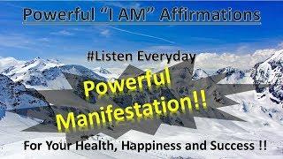 Des Affirmations pour la Santé, le Bonheur et la Réussite, '' je SUIS'' (21 Jours pour créer un nouveau vous vous!)