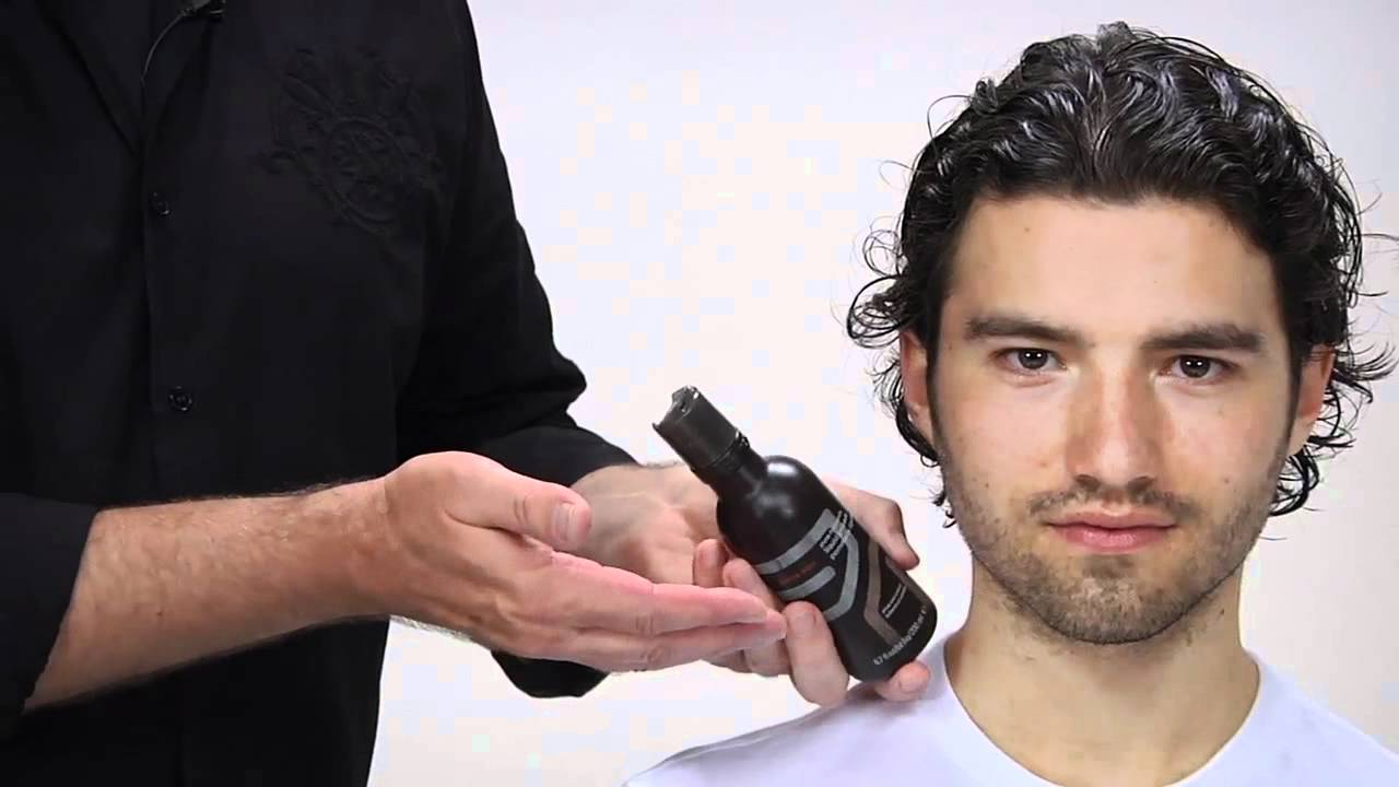 How To Style Men's Long & Curly Hair - YouTube