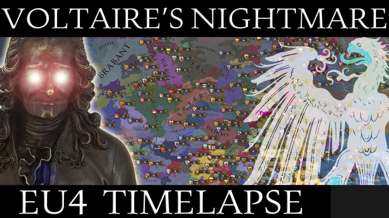 EU4 Timelapse: Voltaire's Nightmare Mod (1054-1871)