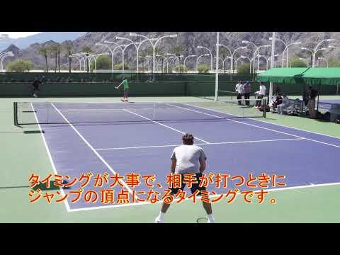 【テニス上達】フェデラーに学ぶスプリットステップのタイミング【ここが大事!!】