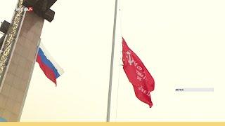 Церемония поднятия символа Знамени Победы прошла в Якутске