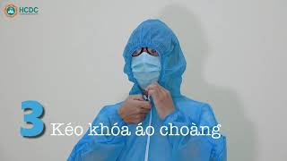 Trình tự mặc và tháo bỏ phương tiện phòng hộ cá nhân (PPE)