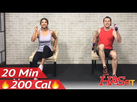 20 Min Chair Exercises Sitting Down Workout - Seated Exercise for Seniors, Elderly, & EVERYONE ELSE