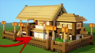 Minecraft: How To Make A Ultimate Wooden Survival House -Tutorial  (2018)