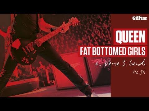 Guitar Lesson: Queen 'Fat Bottomed Girls' -- Part Six -- Verse 3 Bends (TG216)