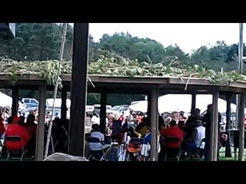 Opening Drum Circle of Little Traverse Bay Band of Odawa Pow Wow 2015