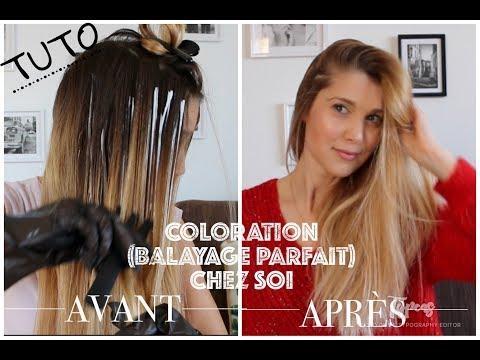 Tuto coloration mèches (balayage) pour les cheveux
