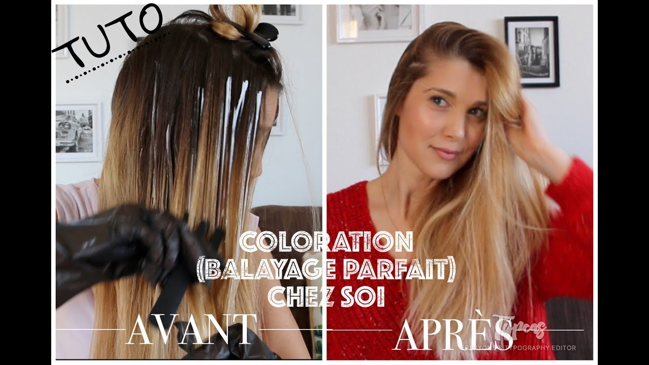 tuto coloration m ches balayage pour les cheveux youtube. Black Bedroom Furniture Sets. Home Design Ideas