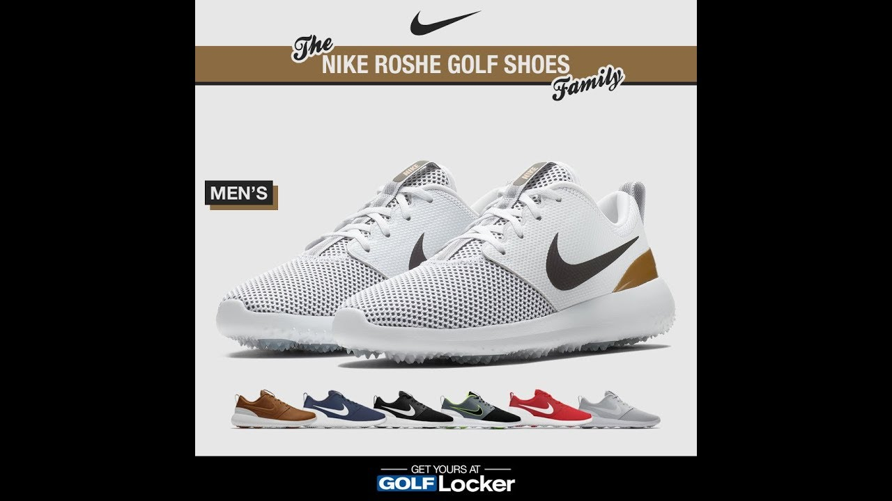84f8c9f2c961 The Nike Roshe Golf Shoes Family - YouTube