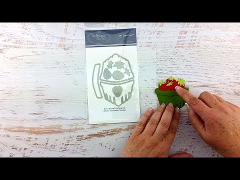 Create A Cute Berry Basket For Paper Craft Projects - Technique Tuesday