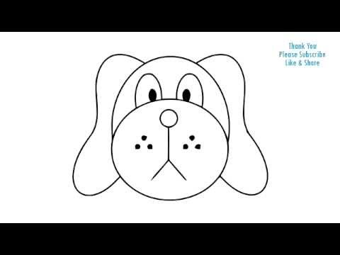 How to Draw a Dog Simple easy Drawing Puppy cartoon YouTube