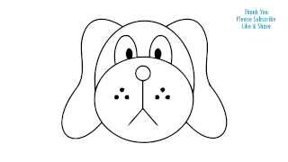 dog easy cartoon drawing simple draw puppy getdrawings pug