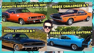 DODGE CHARGER '70 R/T, Plymouth Barracuda 426 Hemi, Dodge Challenger R/T, Dodge Charger Daytona