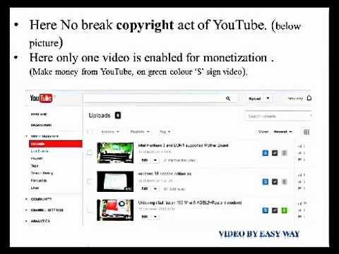 Make[Earn] Money[Cash] From YouTube,100% Genuine Video To ...