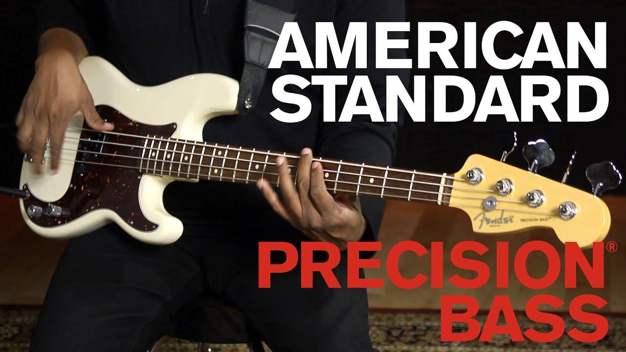 American Standard Precision® Bass Demo | Fender - YouTube