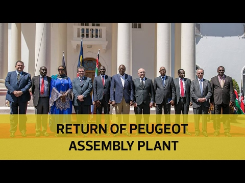 Uhuru signs deal for local assembly of Peugeot cars