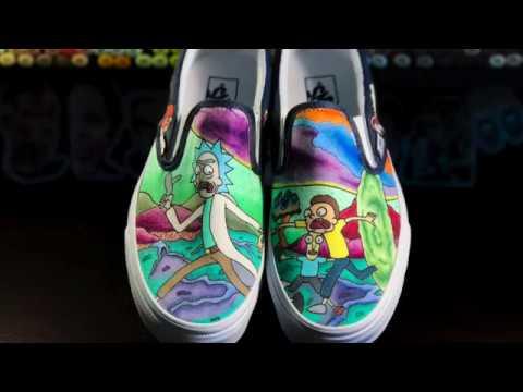 5368826ac4b Rick   Morty Custom Vans Timelapse - YouTube