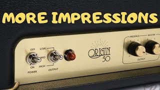 Marshall Origin 50 - More Impressions