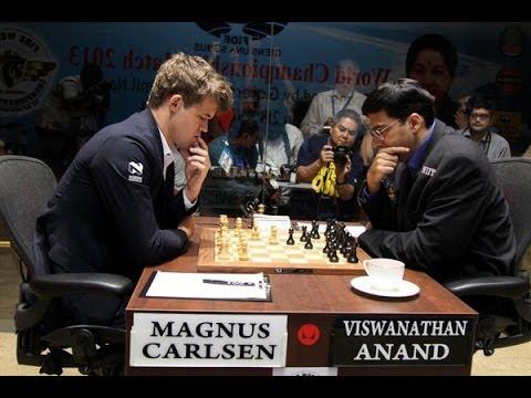 Carlsen - Campeonato mundial Ajedrez 2013 (QUINTA PARTIDA) Carlsen Anand Mundial ajedrez 2013