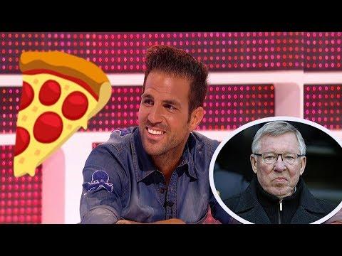 Cesc FÁBREGAS Le Tira Una PIZZA a Alex FERGUSON - Pizzagate - Momentos Graciosos En El Fútbol #2