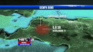 Gempa 5,6 SR Di Pandeglang, Banten - NET24