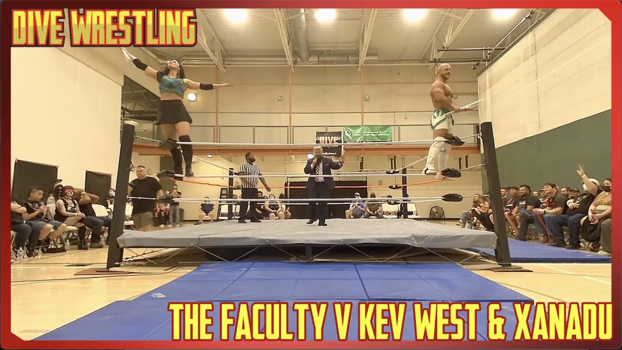 Intergender Tag Team Match - The Faculty VS. Kev West & Xanadu - Dive Wrestling 6 - May 2021