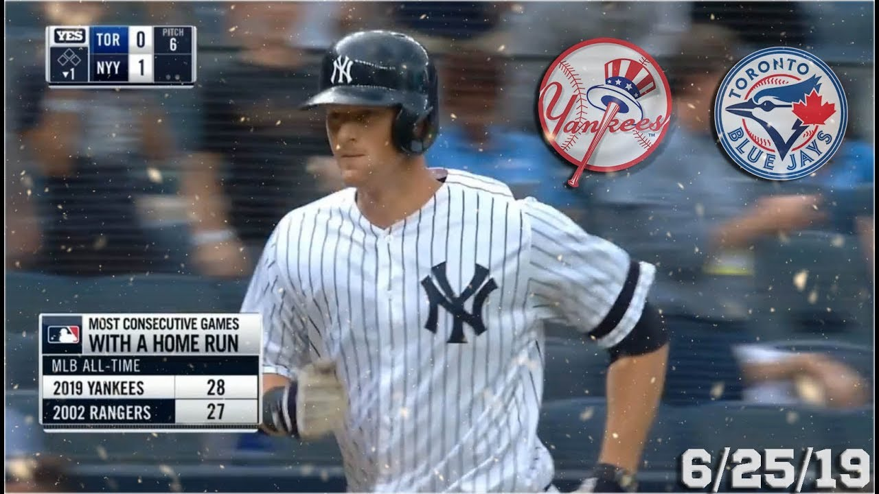 low priced 8dcb7 872e6 New York Yankees Highlights: vs Toronto Blue Jays | 6/25/19