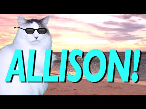 HAPPY BIRTHDAY ALLISON! - EPIC CAT Happy Birthday Song