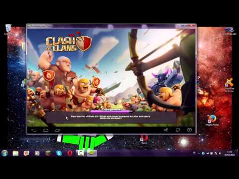 jeu d androide sur pc (clash of clans)