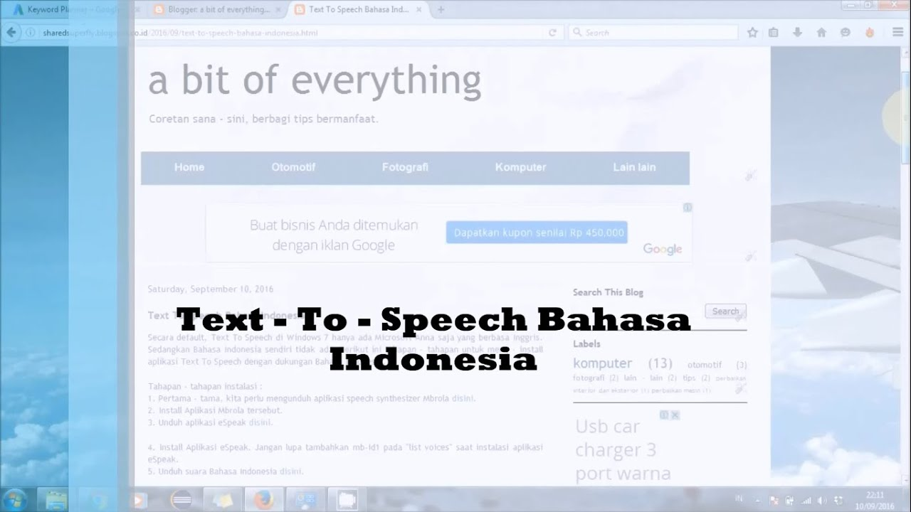 text to speech bahasa indonesia  YouTube