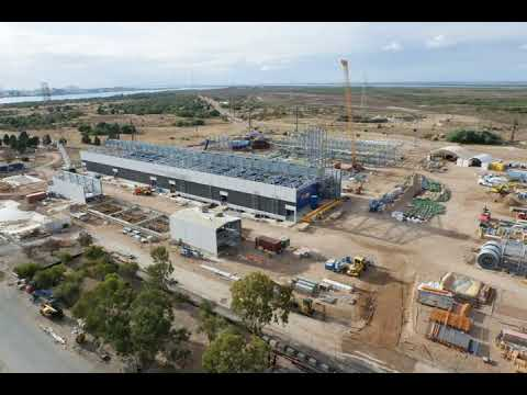 Construction Timelapse At Barker Inlet Power Station