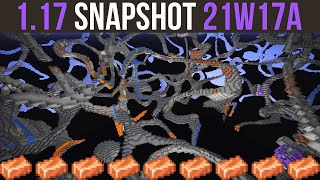 Minecraft 1.17 Snapshot 21w17a Noodle Caves & Copper Changes