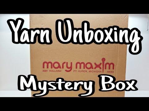 Yarn Unboxing - Mystery Yarn From Mary Maxim - Yarn Haul  Bagoday Crochet