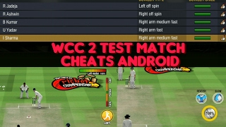 World Cricket Championship 2 Test Match Cheats Android 2017