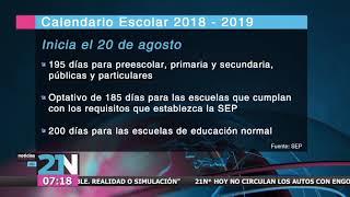 Presentan calendario escolar 2018-2019