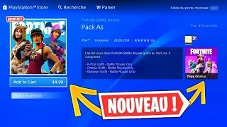 A NEW PACK PERSONNAGE OFFERT FORTNITE and INFO on THE SKIN THE TRAQUE