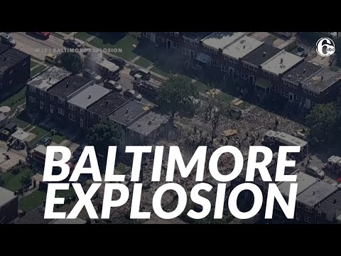 Gas explosion in Baltimore levels 3 homes