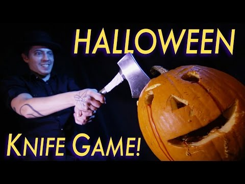 HALLOWEEN Knife Game Song! SPOOKY SPOOKY...