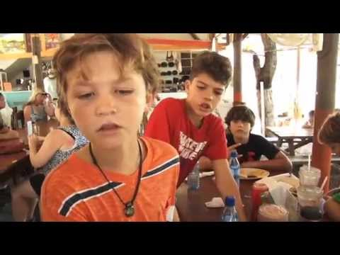 Belize for Kids // Kids try cow foot soup!