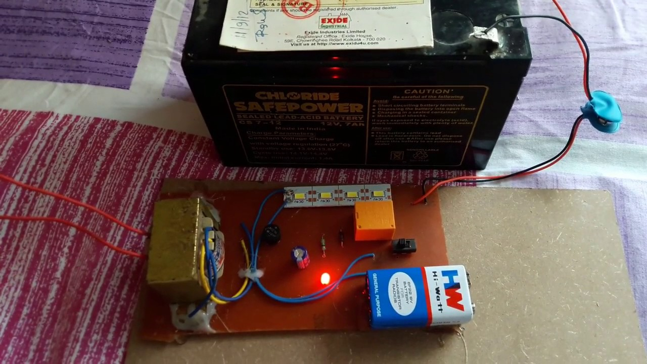 Simple Emergency Light With Circuit And Pcb Youtube Led Wiring Diagram