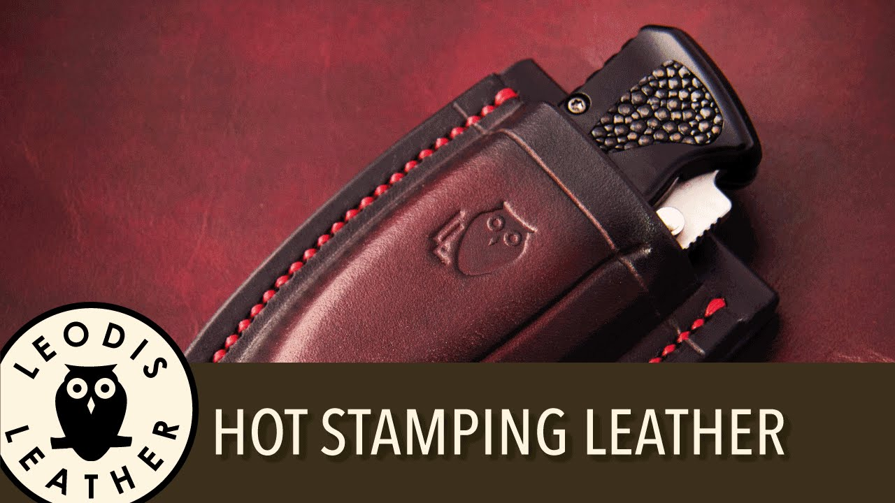 Quick tip, how to hot stamp your leather | Doovi