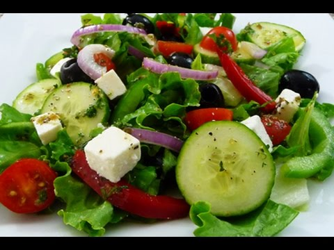 Receta facil ensalada griega riquisima y saludable tutorial de cocina youtube - Como preparar una cena saludable y facil ...