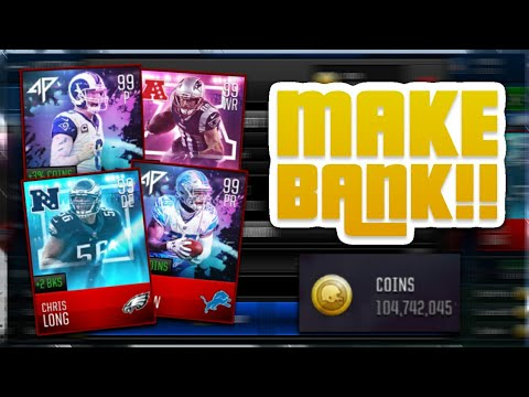 MADDEN MOBILE 18 INVESTMENTS AND COIN MAKING METHODS!! MAKE MILLIONS TO BUY 99's IN THE FUTURE!!