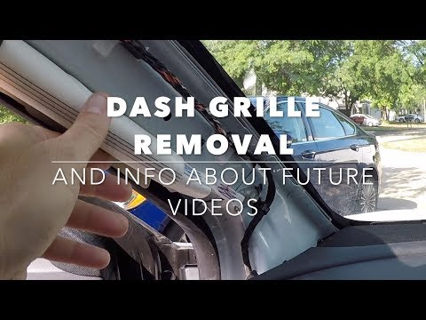 Tesla Model 3 Dash Grille Removal And Explanation Of New Videos Coming Soon!
