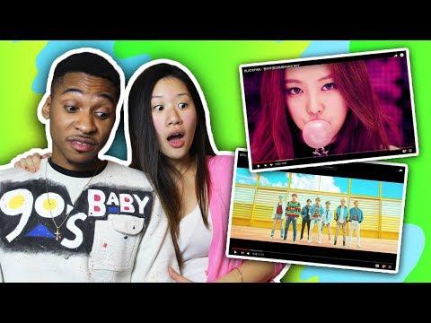 Introducing My Boyfriend To K-pop BTS And Black Pink! | SLICE N RICE 🍕🍚