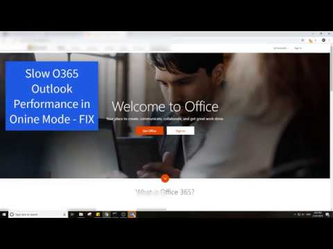 Fix Slow Office 365 Outlook Performance in Online Mode