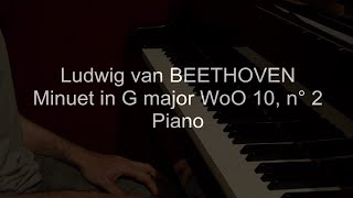 Beethoven Minuet in G major WoO 10, n° 2
