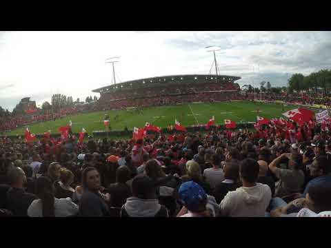 Mate Ma'a Tonga fans breakout in Tongan Hymn TONvsNZL (RLWC2017)